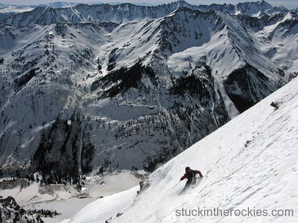 Landry route, ski 14ers, pyramid peak, john morrison