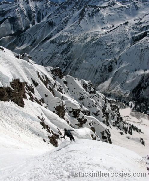 Landry route, ski 14ers, pyramid peak, glen poulsen