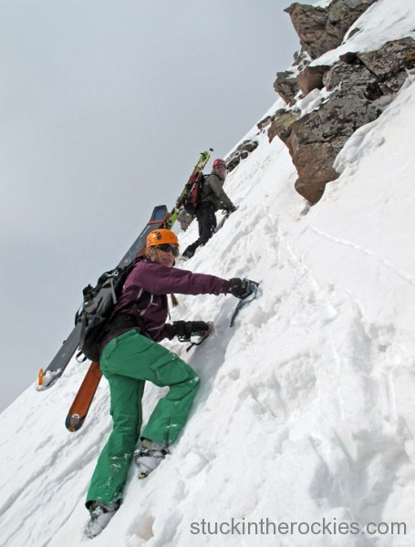 ski 14ers, fourteeners, landry route, pyramid peak, christy mahon, joey giampaolo