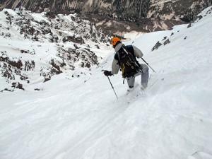 ski 14ers, fourteeners, sean shean, landry route, pyramid peak