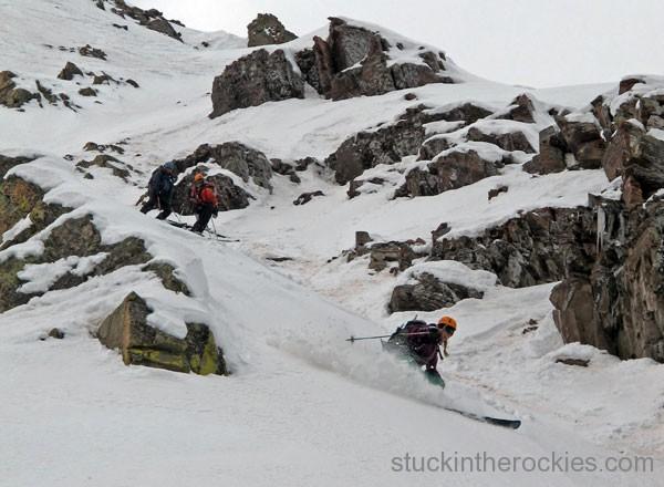 ski 14ers, fourteeners, landry route, pyramid peak, christy mahon
