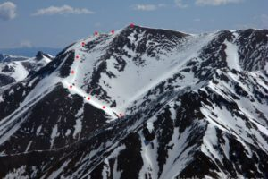 14er Ski Descents – Redcloud Peak – May 24, 1999