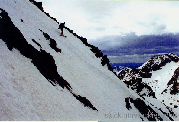 SKi windom peak, widowmaker couloir