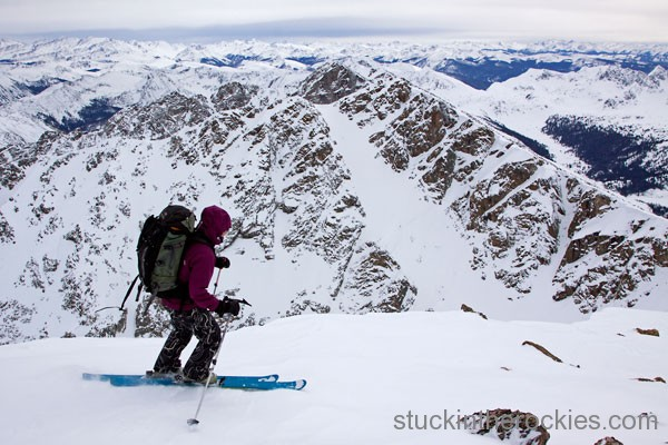 ski 14ers, holy cross, christy mahon