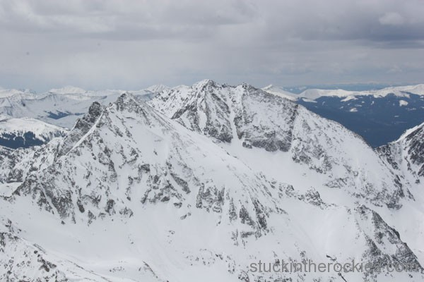 huron peak, ski 14ers, ice mountain, north apostle