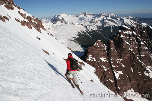 matt ross, north maroon peak ski., ski 14ers