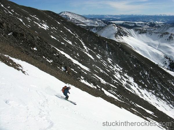 San Luis Peak, Yawner Gullies, ted mahon, ski 14ers
