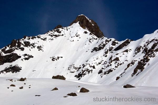 ski 14ers, wetterhorn peak