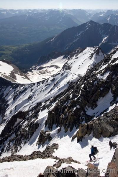 ski wilson peak, telemark 14ers