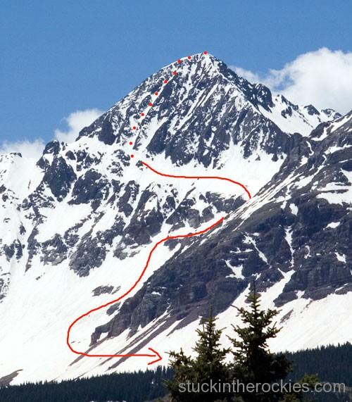 coors face, wilson peak, ski 14ers