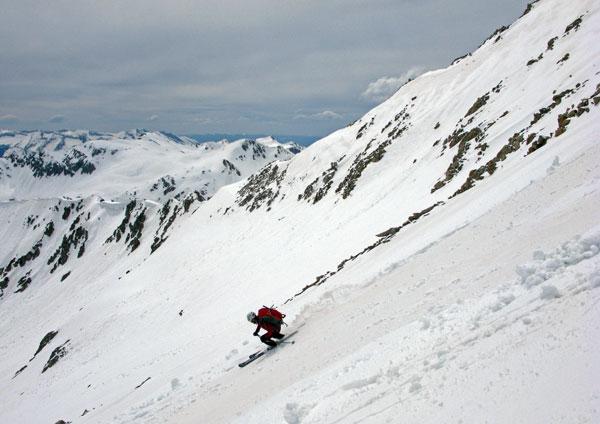 Josh on the descent
