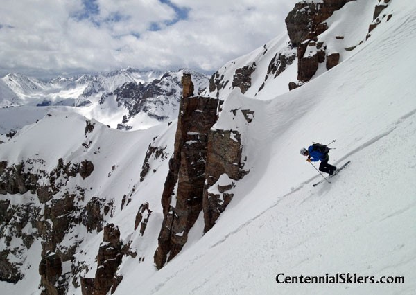 Cathedral Peak, Pearl Couloir, Centennial Skiers, linden mallory