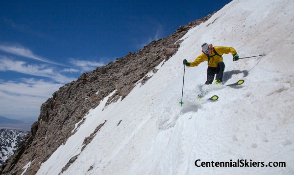centennial skiers, chris davenport, columbia point