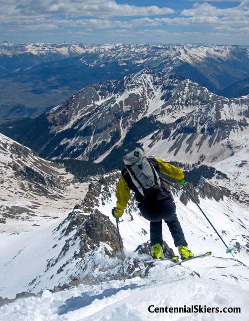 Gladstone Peak, Centennial skiers, Chris Davenport, Christy Mahon, Ted Mahon