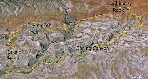 capitol reef, fruita, spring canyon, cohab canyon