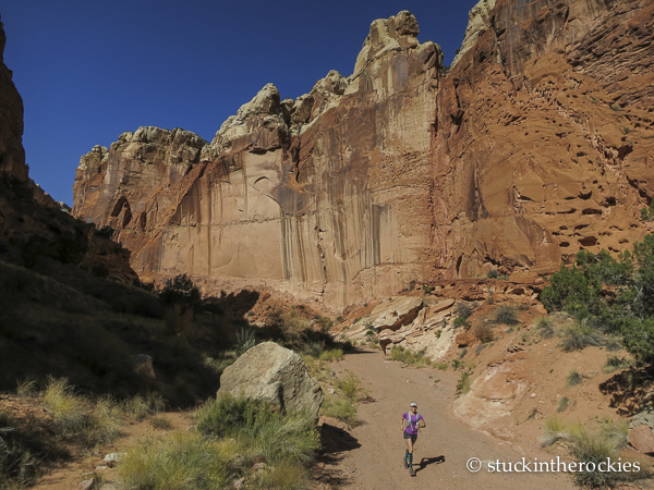 Spring canyon, capitol reef trailrunning