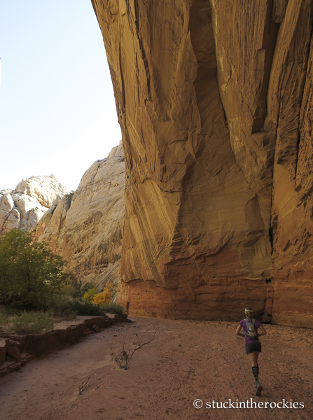spring canyon capitol reef, capitol reef national park, christy mahon, canyon running