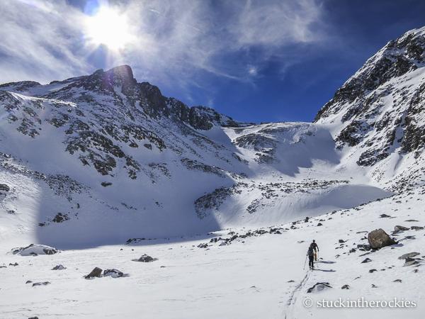 ski 14ers, castle peak, montezuma basin