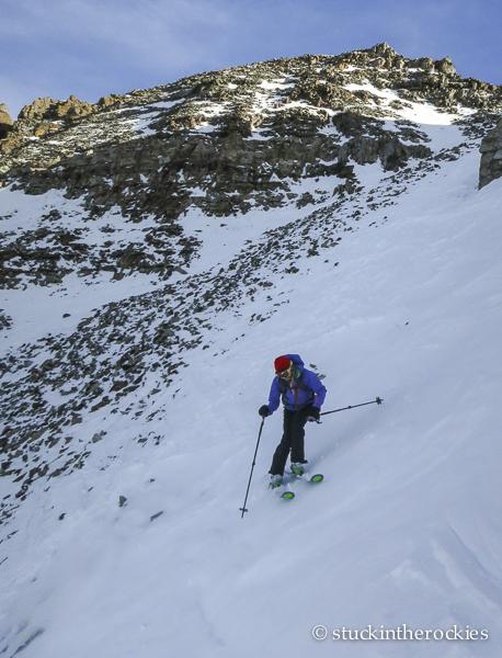 ski 14ers, castle peak, christy mahon