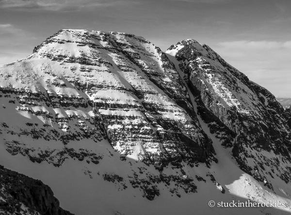 ski 14ers, conundrum peak, conundrum couloir