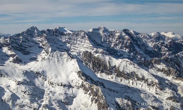 ski 14ers, castle peak, elk mountains, castle peak summit