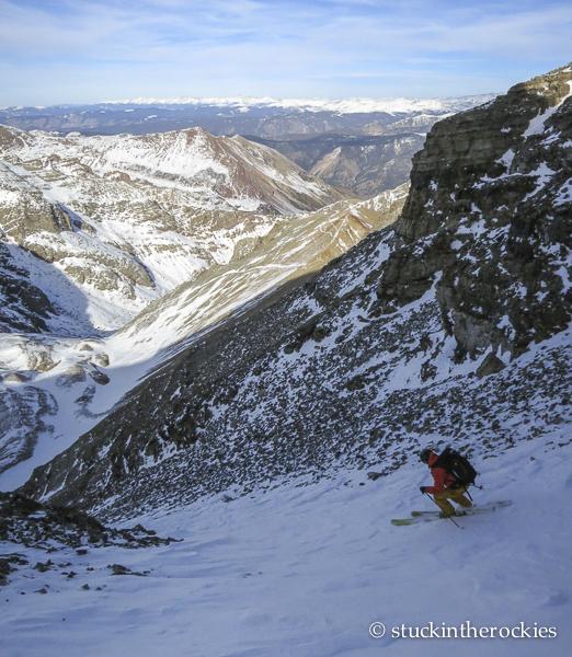 ski 14ers, castle peak, joey giampaolo