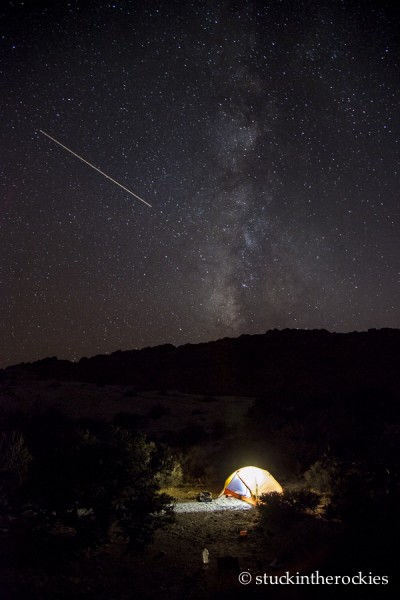capitol reef, waterpocket fold, muley twist canyon, milky way, night camping