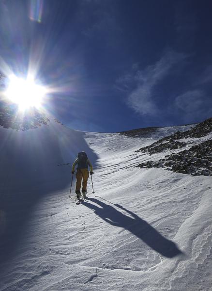 ski 14ers, castle peak, montezuma basin, joey giampaolo