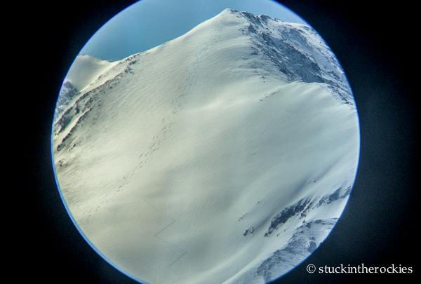 The view through the telescope at the Sundeck across the valley, the next day.