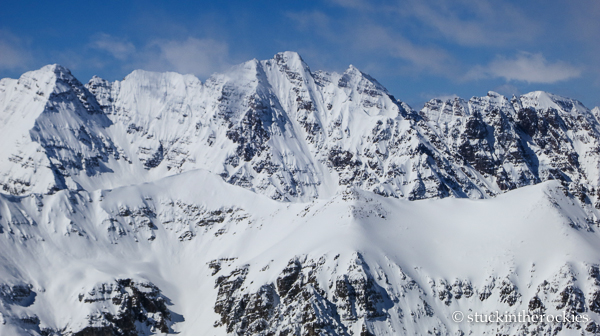 The dominating summits of the Maroon Valley.