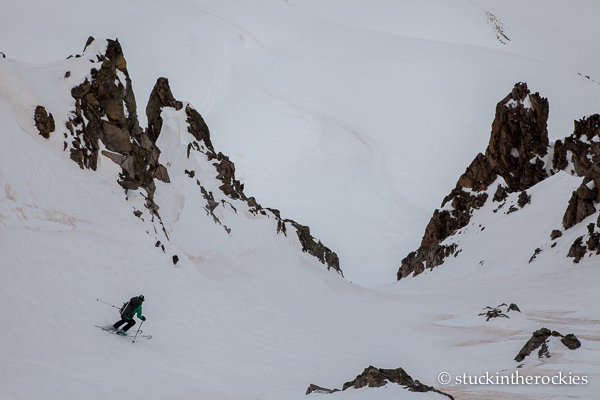 Kind of the definition of a Colorado Couloir.