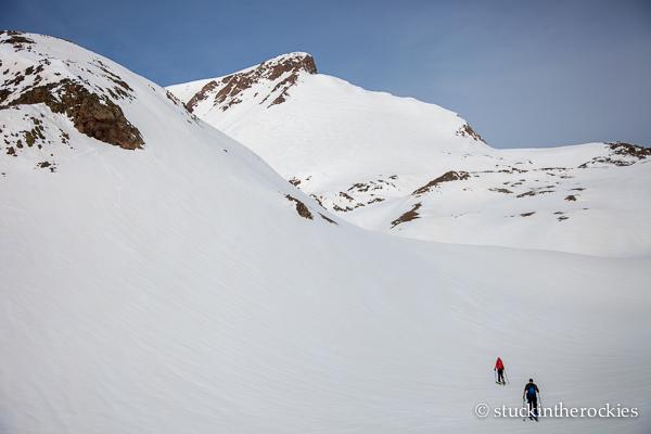 half peak ski descent