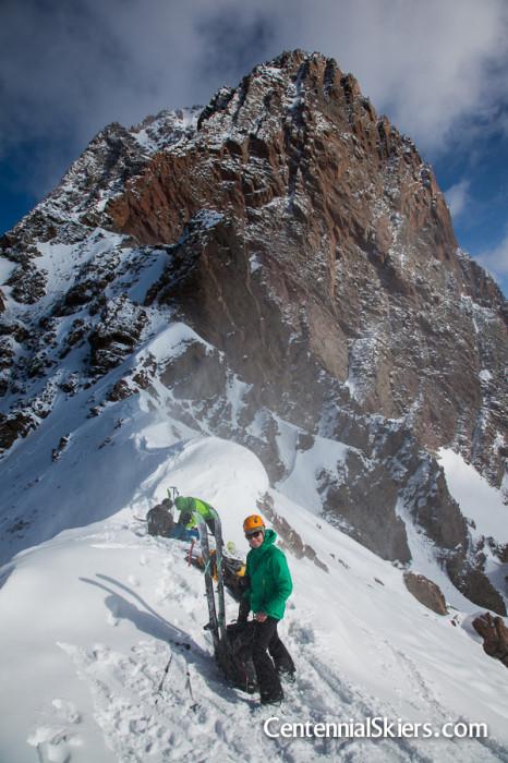 vestal peak, centennial skiers