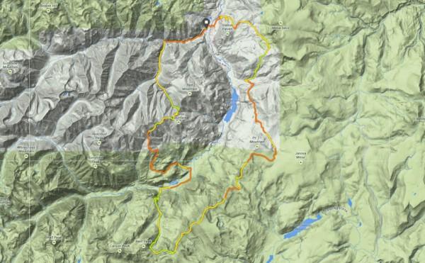 San Juan Solstice 50 miler Course Map