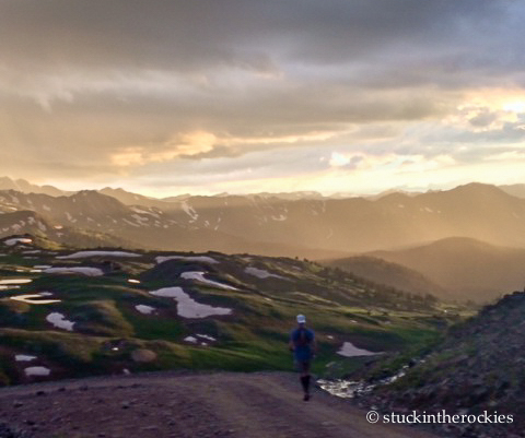 engineer pass sunset during the hardrock 100