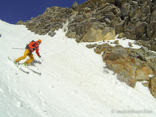 Joey Giampaolo in Conundrum Couloir