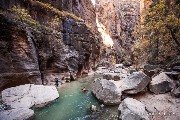 Joey Giampaolo in the Zion Narrows
