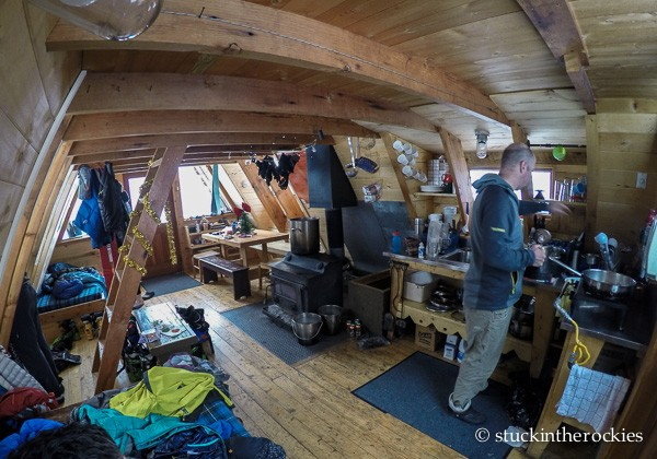 Tagert Hut interior