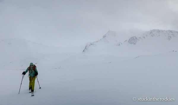 Mace Saddle, on the Mace Peak ski loop