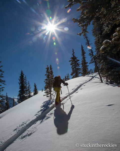 Christy Mahon on Sievers Mountain