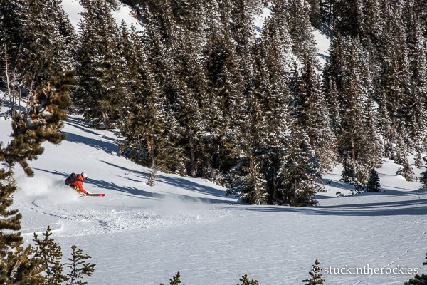 There were a few inches of new snow on an old crust. It skied well up top, but it became pretty challenging lower down.