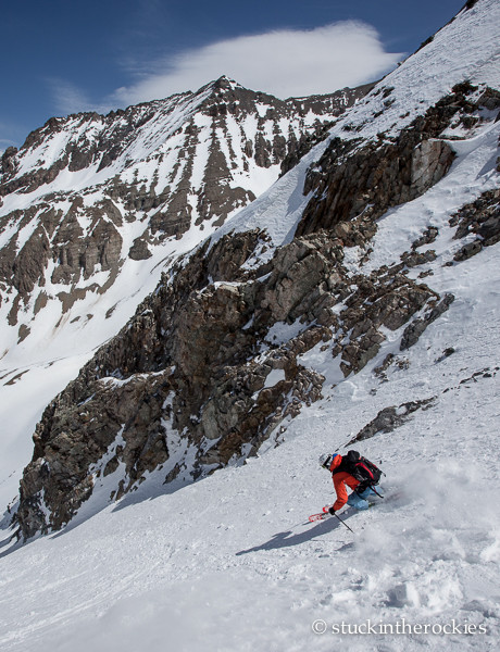 Joey Giampaolo in the Sloman Couloir