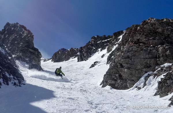 Ted Mahon skiing Mount Raoul