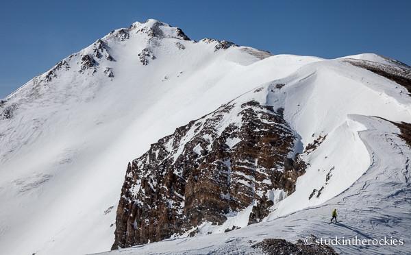 Jesse Morris on Taylor Peak
