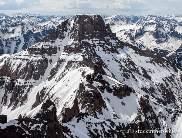 Potosi Peak and the North Couloir