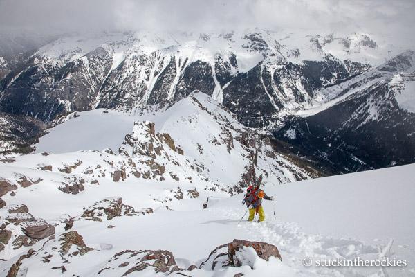 Christy mahon on Potosi peak