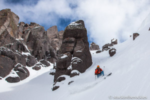 North Couloir of Potosi Peak