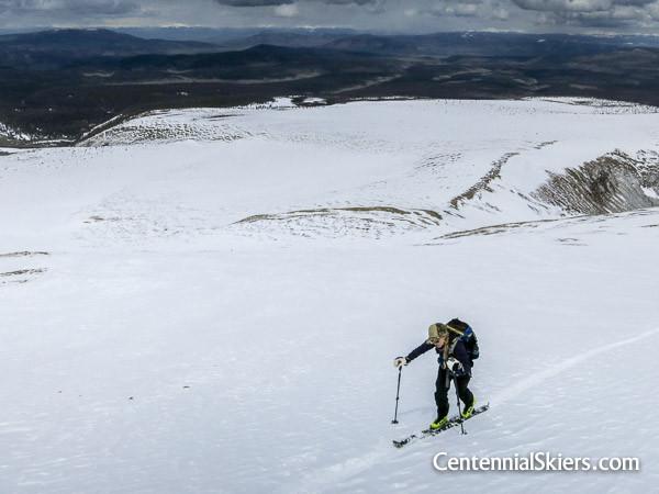 Christy Mahon on Stewart Peak