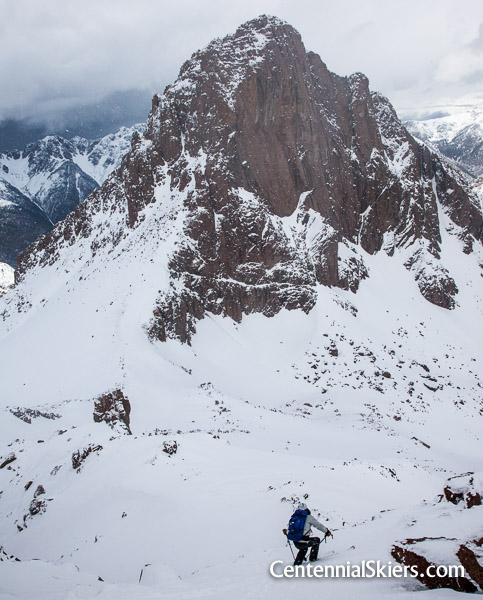 Chris Davenport on Turret Peak