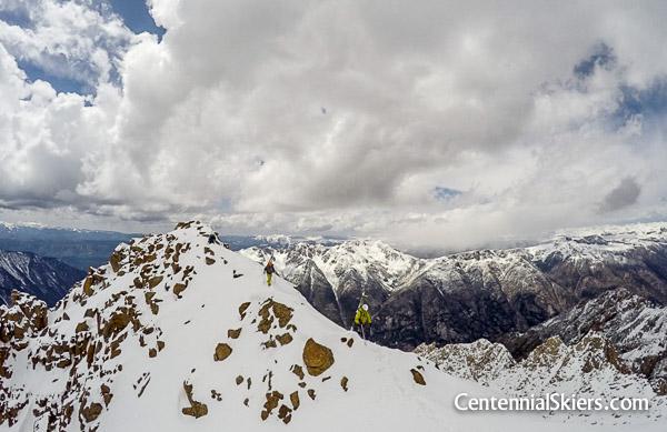 Finally, the summit ridge.